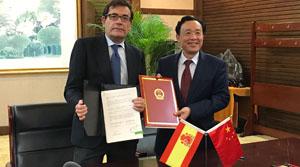 Firma del Acuerdo con China