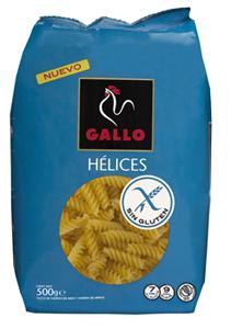 Pastas Gallo sin gluten