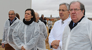 Visita Juan Vicente Herrera a Quesos El Pastor