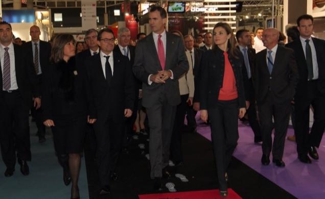 Los Príncipes de Asturias, inaugurando Alimentaria 2014