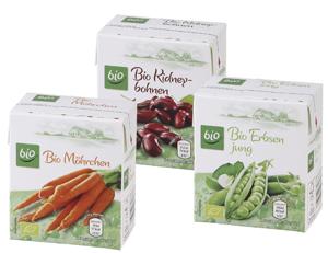Productos de Aldi con envases Combibloc