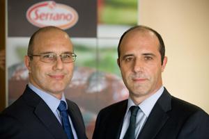 Los directores generales de Cárnicas Serrano, Abelardo y  Carlos Serrano.