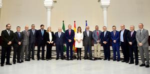 Junta Directiva de la CAEA y Susana Díaz