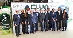 Visita de la delegación china a Clun