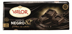 Chocolate negro 82% Valor