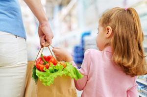 Bolsa en supermercados