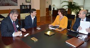 Reunión con la consejera de Economía y Empresas