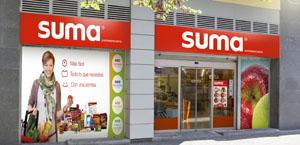 Fachada de un supermercado Suma