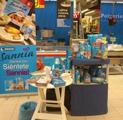 Degustación de productos Sannia