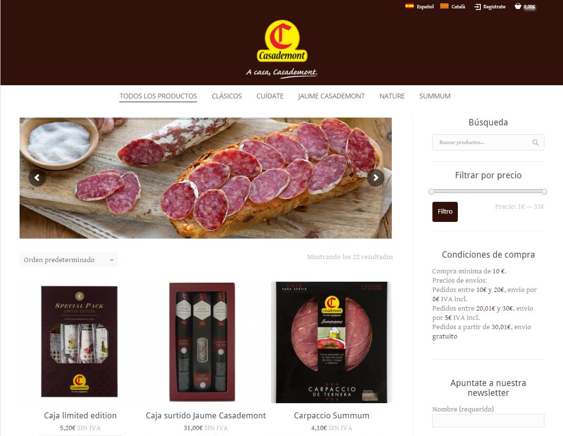 Tienda Online Casademont