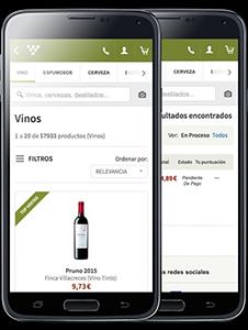 Venta de vinos por smartphones