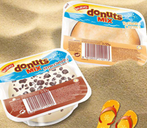 Donuts Mix Stracciatela y relleno de crema