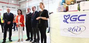 Inauguración de la ampliación de la fábrica