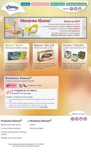 Nueva web de Kleenex