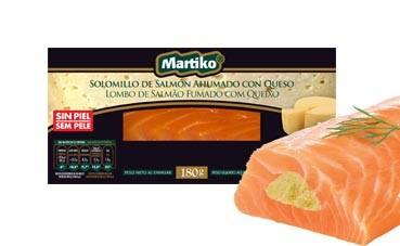Salmón ahumado con queso de Martiko