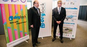 Herrera con el presidente de Drylock
