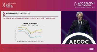 Javier Campo, en el congreso de Aecoc
