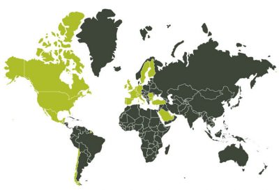 Países a los que exporta Autor Foods. / AUTOR FOODS