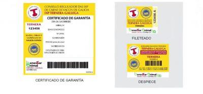 Etiquetas Bienestar Animal de Ternera Galicia