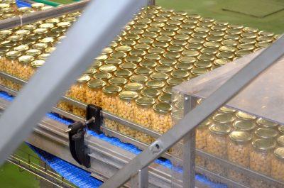 Lineal de garbanzos en la fábrica de Autor Foods / Autor Foods