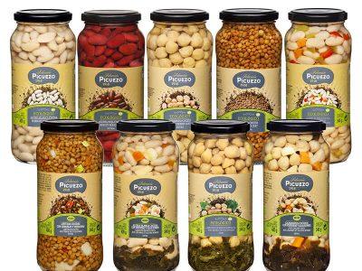 Algunos de los productos ecológicos de Autor Foods con su marca Picuezo Selección / Autor Foods