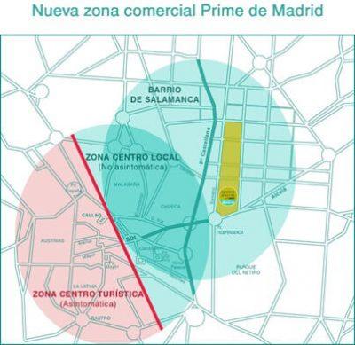 Mapa comercio Madrid